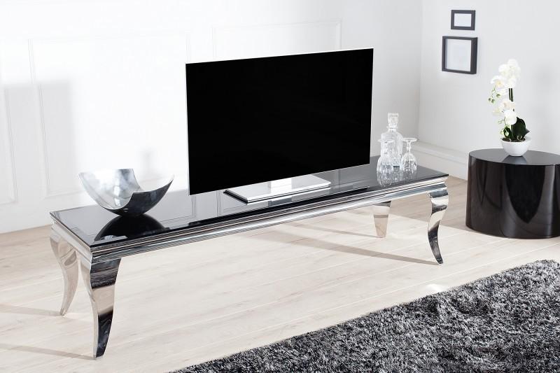 Tv meubel moderne barok 160 cm zwart zilver 37749