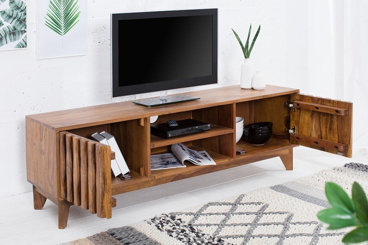 design tv board retro 145cm klassieke design steen in sheesham stijl. Black Bedroom Furniture Sets. Home Design Ideas