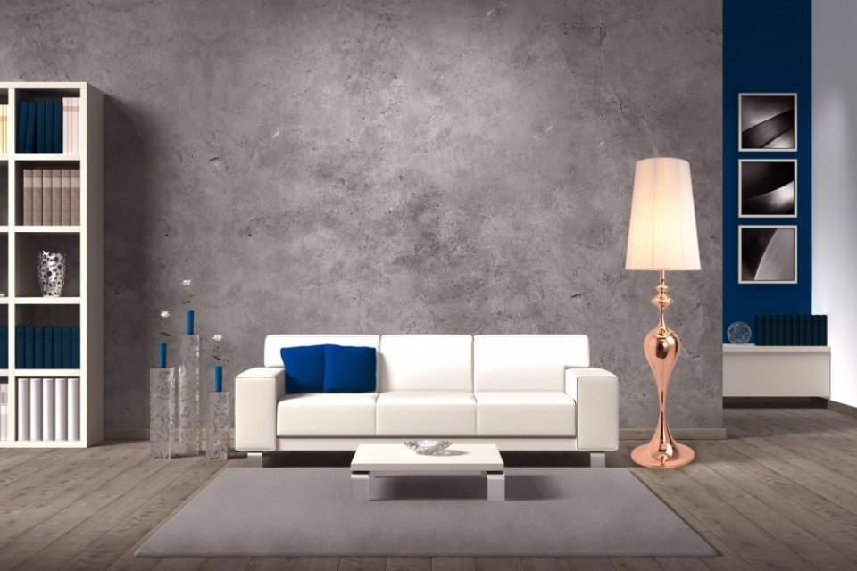 Ongebruikt Elegante design vloerlamp LUCIE rose goud 160cm TX-63