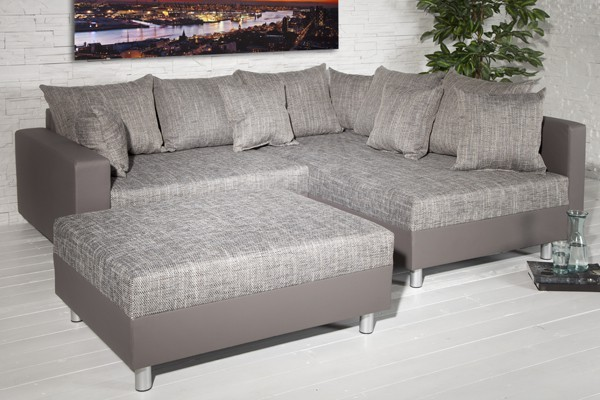 Loungebank model sonja hocker grijs napalon grijs - Moderne hoek lounge ...