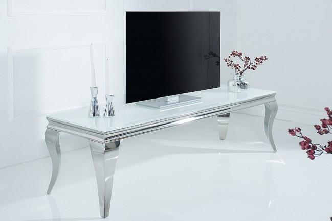 Eettafel Modern Wit.Stijlvolle Tv Tafel Modern Barock 160cm Roestvrij Staal Wit