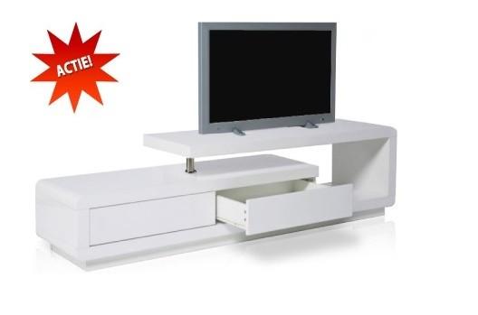 Tv hifi meubel model spring ii hoogglans wit for Hifi meubel