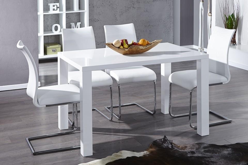 Eettafel Hoogglans Wit 120.Eettafel Model Lucente 120cm