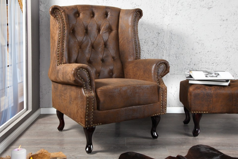 fauteuil model chesterfield klassiek aniek stof. Black Bedroom Furniture Sets. Home Design Ideas