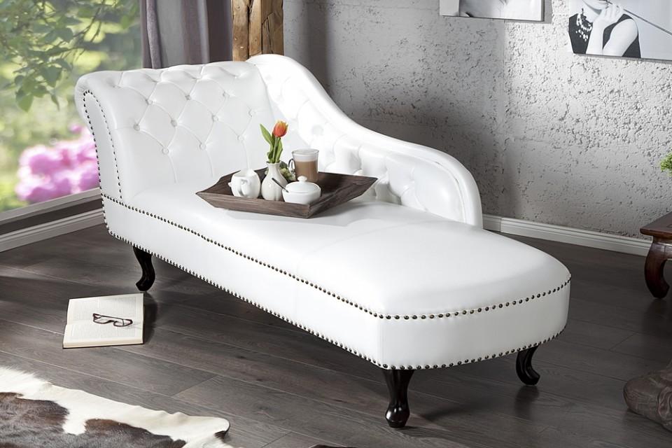 ... / ZITMEUBELEN / Bankstellen / Long Chair Model: Chesterfield - wit