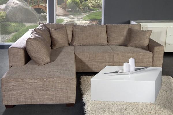 Loungebank model apartment cappuccino - Moderne hoek lounge ...