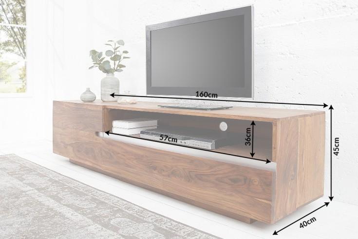massive tv board fire earth ii 160 cm sheesham hout steen afwerking unieke korrel. Black Bedroom Furniture Sets. Home Design Ideas