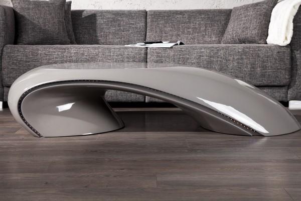 Salontafel model curve grey led - Decoratie tafel basse ...