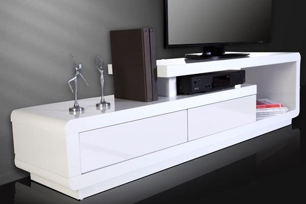 Tv hifi meubel model spring wit for Tv meubel design