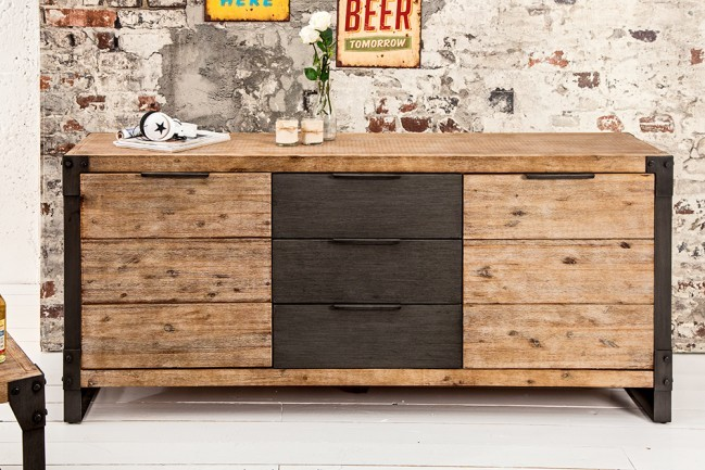 dressoir model industrial. Black Bedroom Furniture Sets. Home Design Ideas