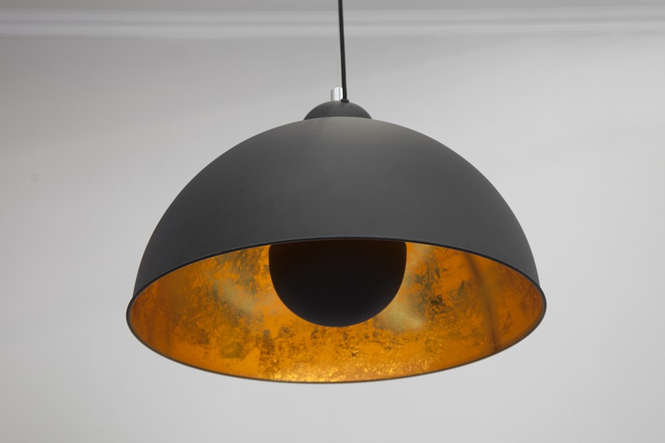 hanglamp model studio zwart goud. Black Bedroom Furniture Sets. Home Design Ideas
