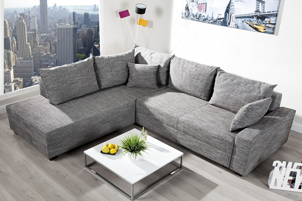 Loungebank model apartment grijs - Lounge design grijs ...