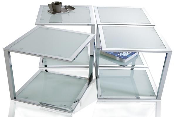 bijzettafel model cubetto chrome. Black Bedroom Furniture Sets. Home Design Ideas