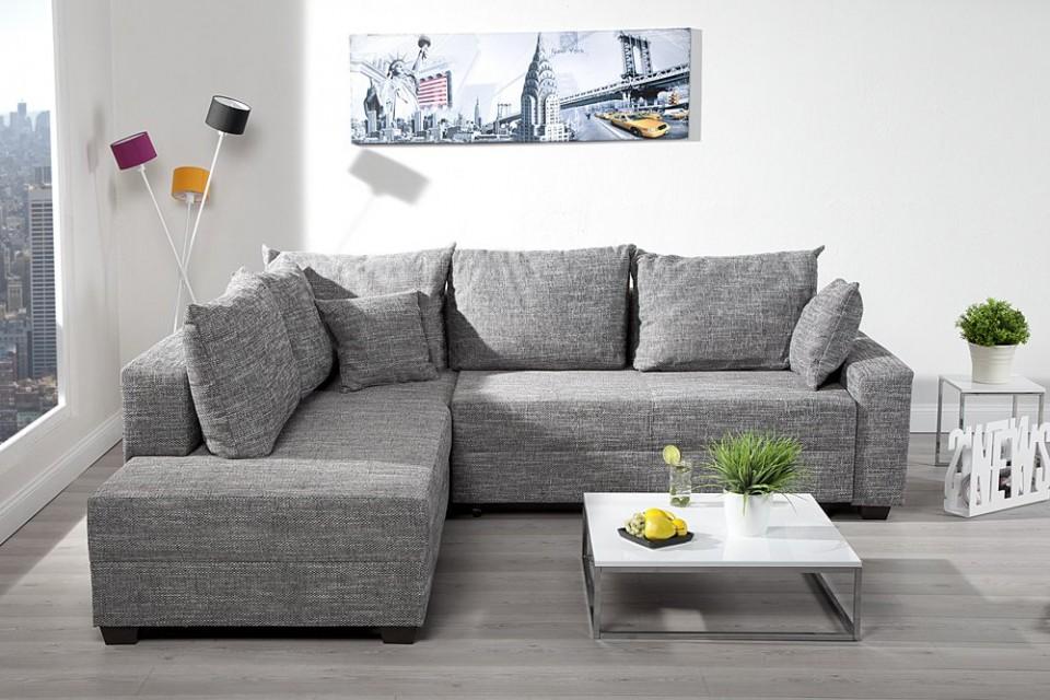 Hoekbank Van Stof.Design Hoekbank Appartement Getextureerde Stof Grafiet