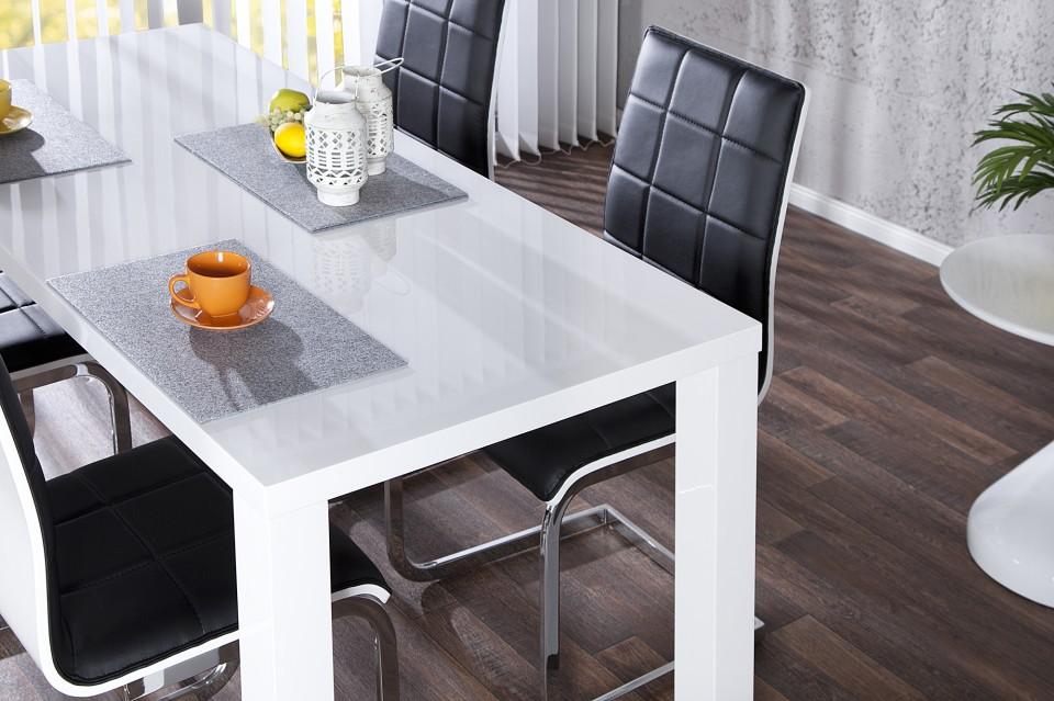 Eetkamer Wit Hoogglans : Eettafel model: lucente 160cm