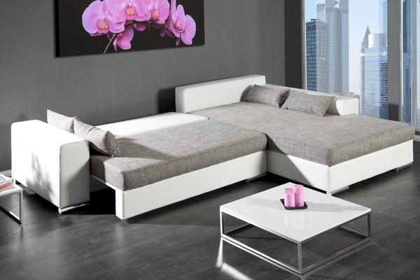 Loungebank model vincenza wit grijs - Moderne hoek lounge ...