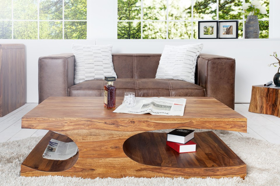 Houten Salontafel Design.Salontafel Model Goa Sheesham Hout