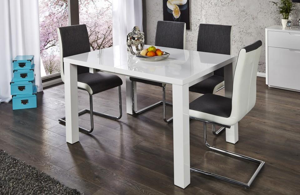 Eettafel model lucente verlengbaar van 120cm naar 200cm - Moderne eettafel ...