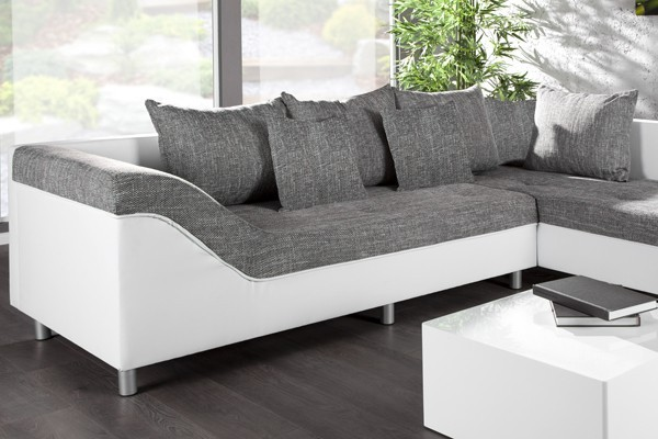 Loungebank model trendy wit grijs - Lounge design grijs ...
