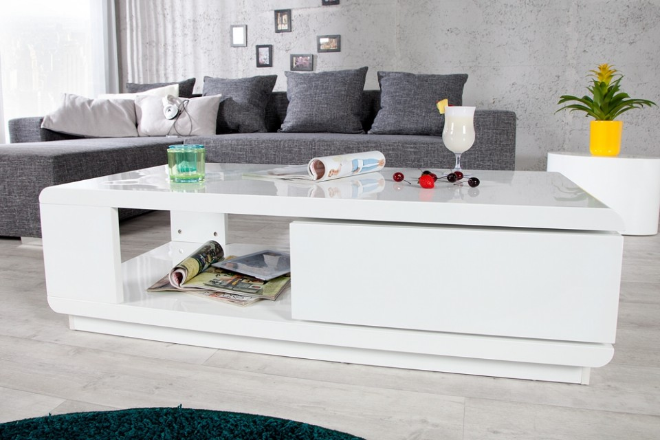 Witte Salon Tafel : Salontafel model fortuna wit levertijd in december