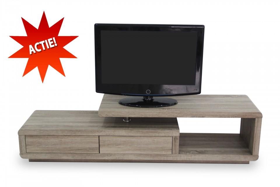Tv hifi meubel model spring ii donker sonoma eiken optiek for Hifi meubel