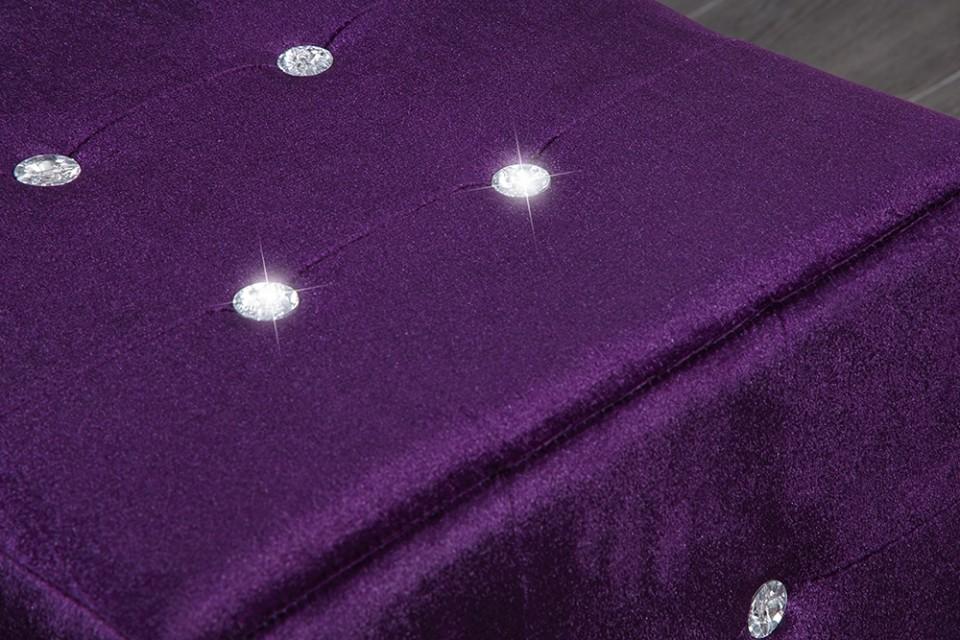hocker model monolit lila acryl kristallen 11043. Black Bedroom Furniture Sets. Home Design Ideas
