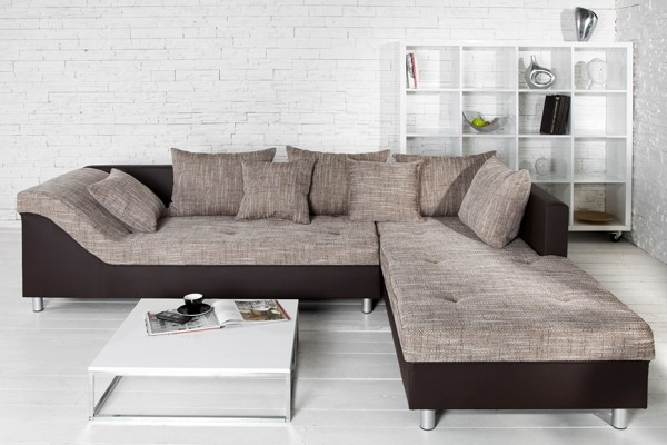 Loungebank model trendy bruin cappuccino Design sofa kaufen