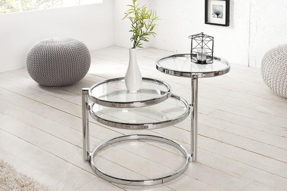 Design Bijzettafel Chroomglas.Bijzettafel Model Art Deco Iii