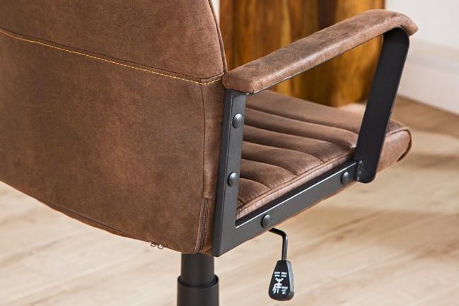 Bureaustoel lazio hoge bruine vintage for Bureaustoel vintage