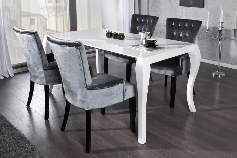 Eettafel model barocco wit uitschuifbaar - Eettafel moderne ...