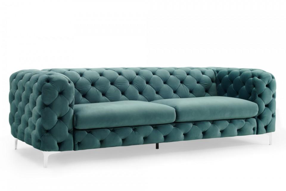 Moderne Chesterfield Banken : Fluwelen aqua sofa moderne barok 3 zits chesterfield bank