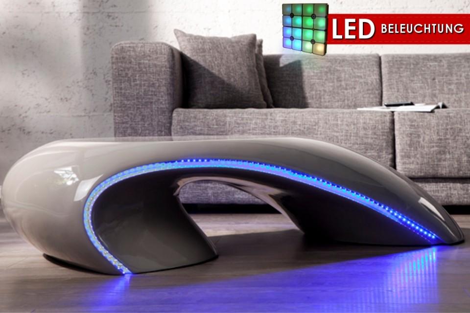 Salontafel Model  Curve Grey + LED