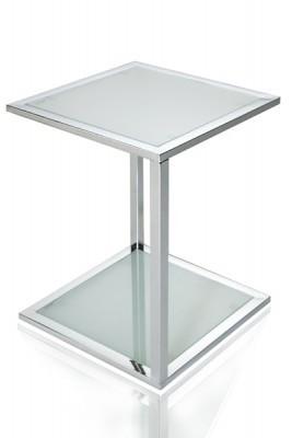 Bijzettafel Glas Chroom.Bijzettafel Model Cubetto Chrome