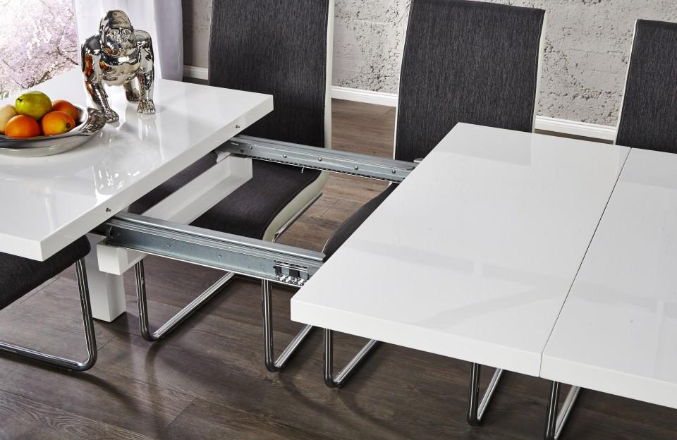 Eetkamer Wit Hoogglans : Eettafel model: lucente verlengbaar van 120cm naar 200cm