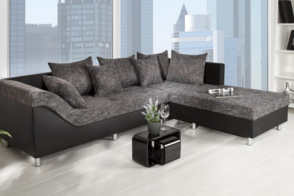 Loungebank Stof Zwart.Loungebank Van Napalon Leder En Stof Moderne Interieurs