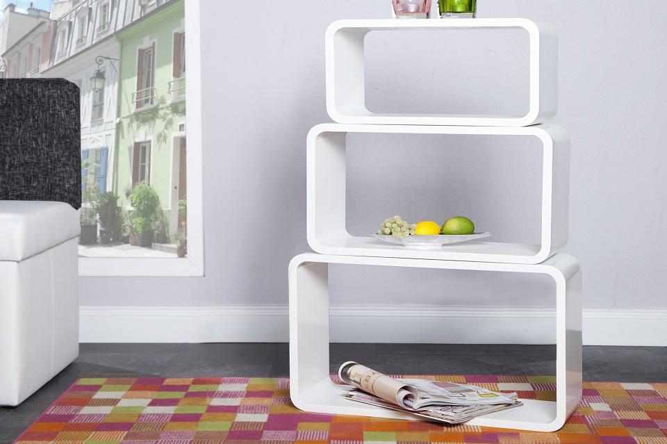 ... WANDPLANKEN / REKKEN / Wandplank Model: Club Cube 3 Set - Wit L - 6968