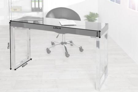 bureau hoogglans zwart 120 cm