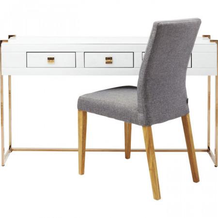 Moderne glamour-look consoletafel bedekt met gekleurd glas 134cm