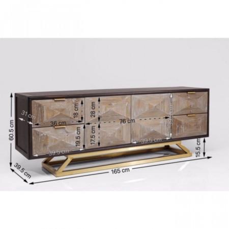 TV Sideboard Triangolo 165cm