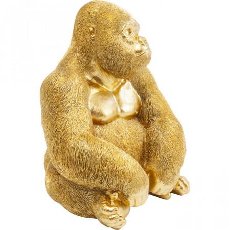 Decoratief Beeld Aap Gorilla Side Medium Goud
