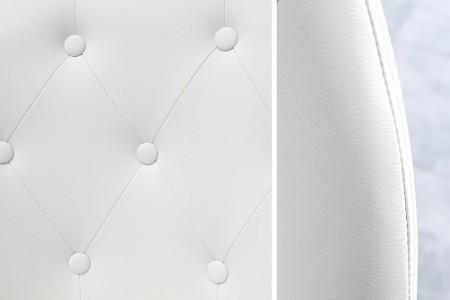Design office fauteuil COUTURE wit met wielen in hoogte verstelbaar in lounge ontwerp afbeeldingen