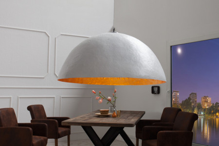 Elegante design hanglamp GLOW 70cm witgouden hanglamp afbeeldingen
