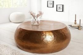 Handgemaakte salontafel ORIENT 80cm koper gehamerd design