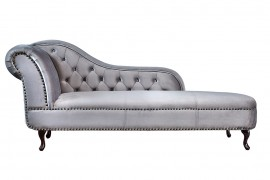 Long Chair Chesterfield bank in fluwelen stof