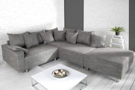 Loungebank Model: Sonja + Hocker - Grijs afbeeldingen
