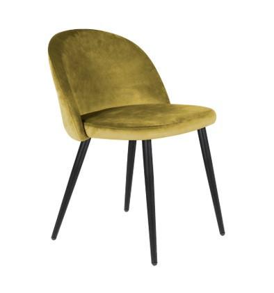 stoelen Oker Fluweel stof set van per 4 prijs
