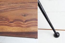 Design salon tafel ALPHA 100 cm Sheesham