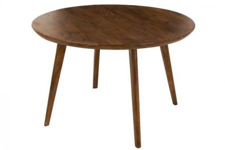 Eettafel Rond Mango Hout Bruin 120cm