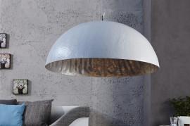 Elegante design hanglamp 50cm wit zilver hanglamp