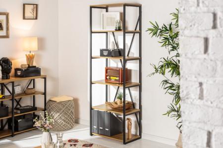 Industriële boekenkast 180 cm eiken look met metalen frame